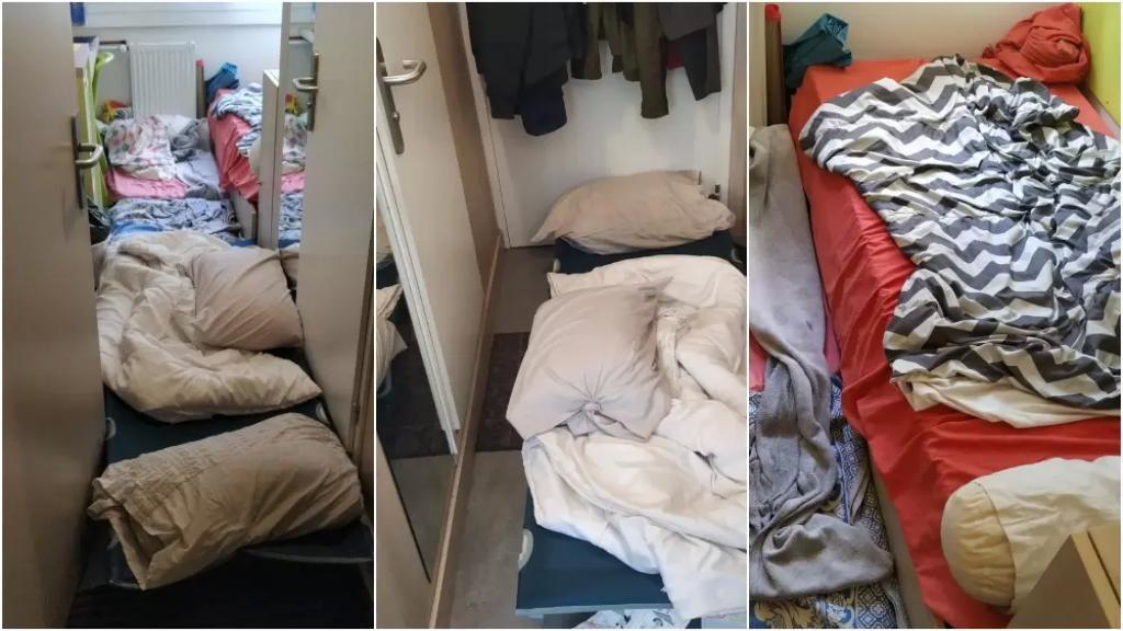 بالصور/ كحال العديد من الطلاب اللبنانيين حول العالم.. 3 شبّان في فرنسا يعيشون في غرفة صغيرة في ظروف قاهرة لعدم قدرتهم على دفع الإيجارات!