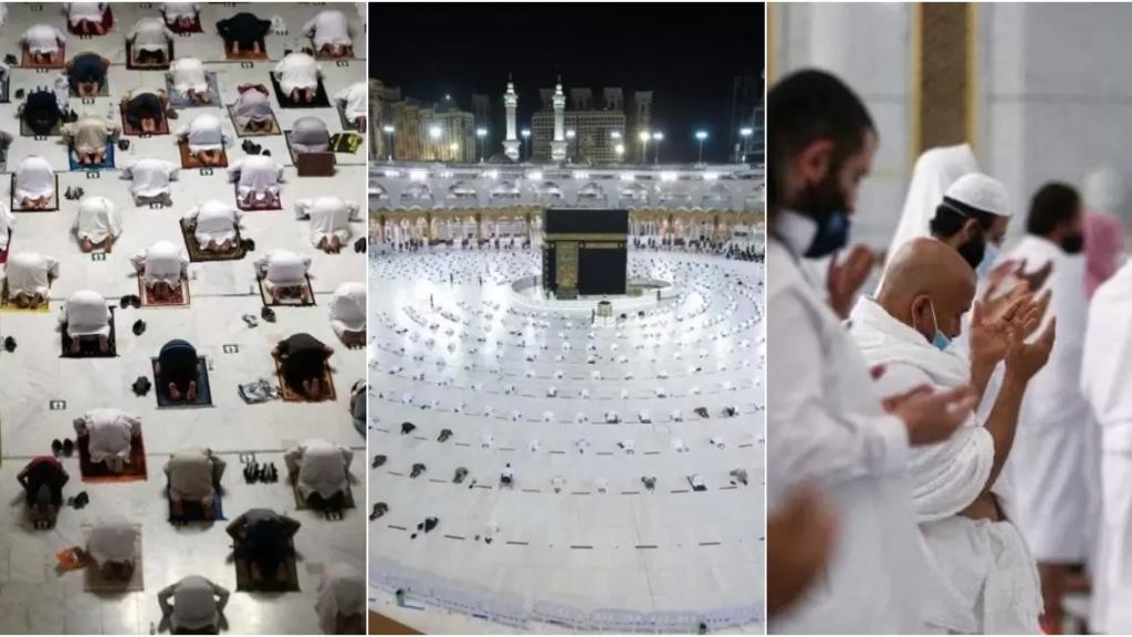 بالصور/ بعد عام على تعليقها... أداء مناسك العمرة في أول ايام رمضان المبارك