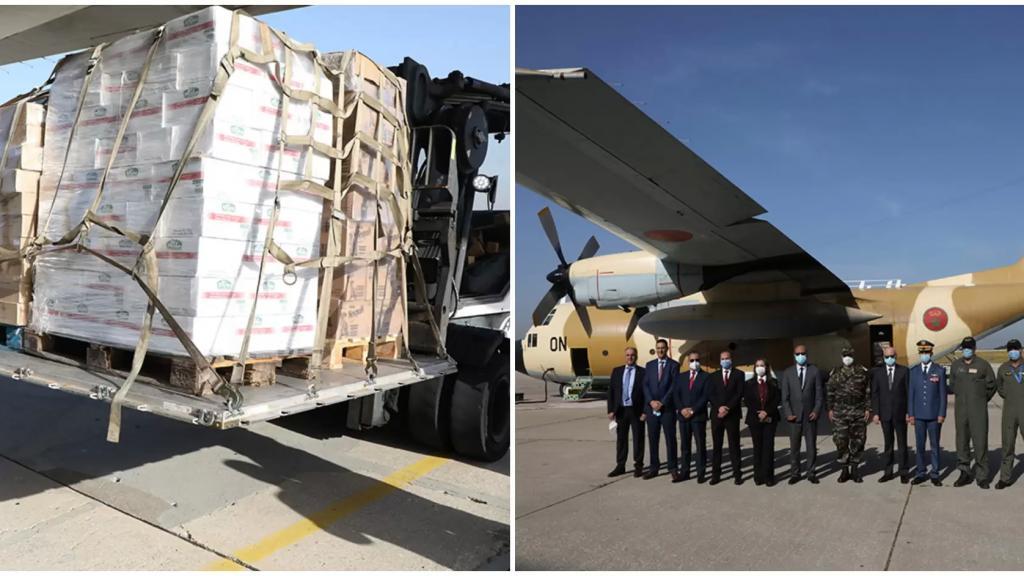 بالصور/ وصول طائرتين محملتين بـ 22 طناً من المواد الغذائية مقدّمة من المملكة المغربية للجيش اللبناني: ضمن 8 طائرات سوف تصل تباع وتنقل ما مجموعه 90 طناً