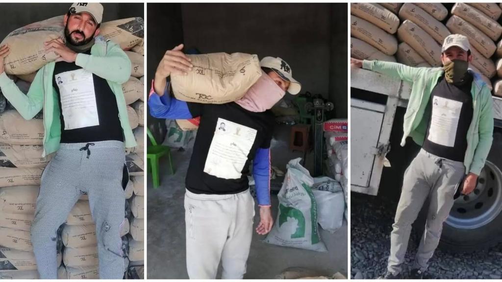 شاب عراقي أصبح حديث السوشيال ميديا..انتشرت صوره وهو معلقاً شهادته الجامعية فوق صدره أثناء عمله في حمل أكياس الإسمنت!