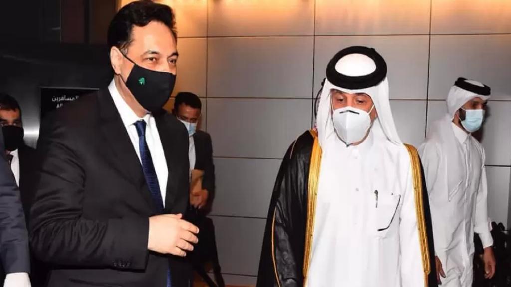 وصول الرئيس دياب إلى مطار حمد الدولي- الدوحة في إطار زيارته الرسمية إلى دولة قطر