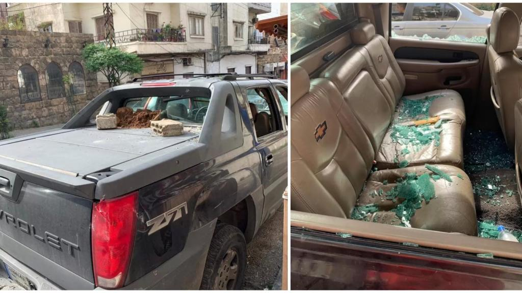 في محلّة القلعة- طرابلس... حادث سير وتلاسُن فتحطيم سيارة وسقوط جريح
