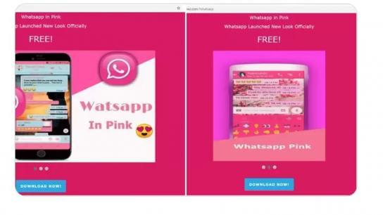"""احذروا """"WhatsApp Pink"""".. ورديٌّ مزيّف لسرقة بيانات هواتفكم!"""