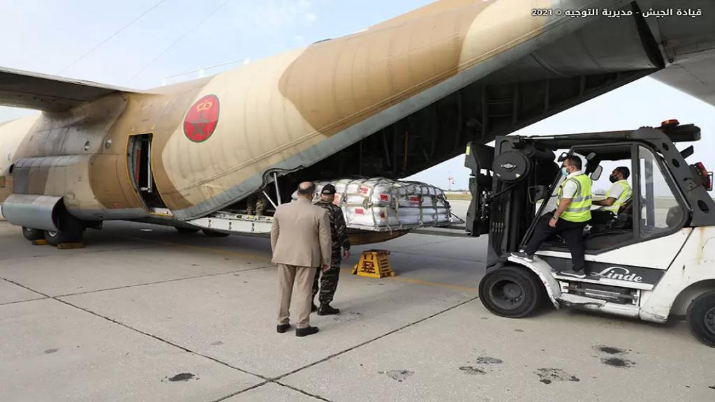 بالصور/ وصول الدفعة الأخيرة من المواد الغذائية المقدّمة من المملكة المغربية للمؤسسة العسكرية والشعب اللبناني