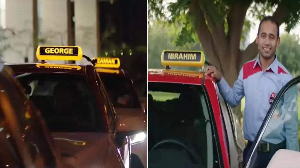 """بالفيديو/ دبي تستبدل كلمة """"تاكسي"""" باسماء سائقي السيارات.. تكريمًا للجنود خلف المقود"""