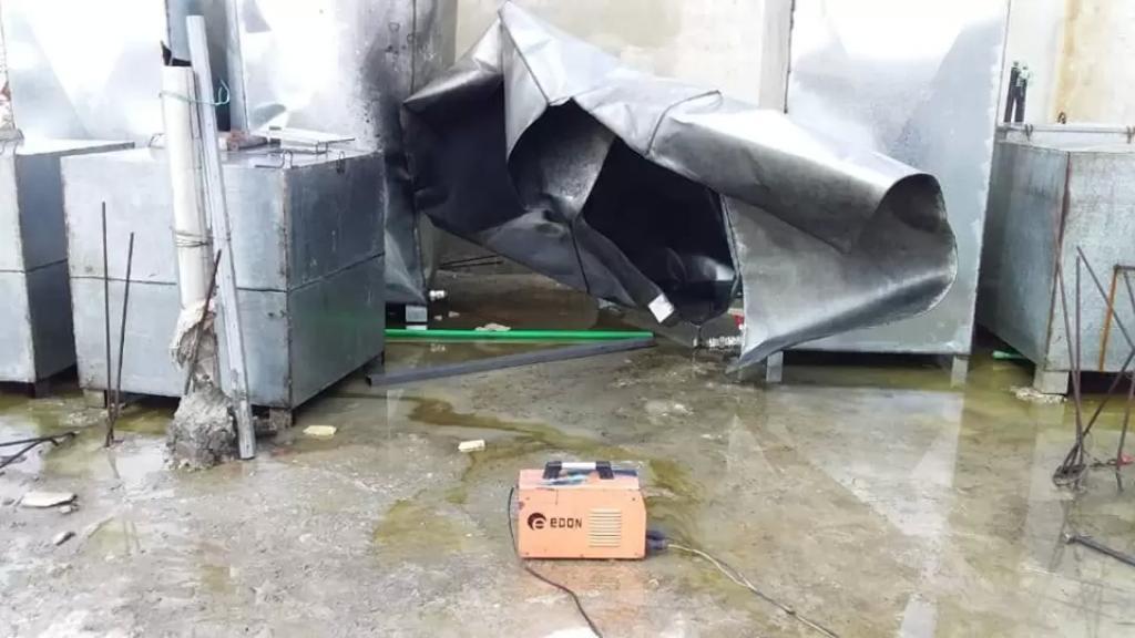 وفاة شخص في منطقة القصر إثر انفجار خزان فارغ للمازوت أثناء تلحيمه