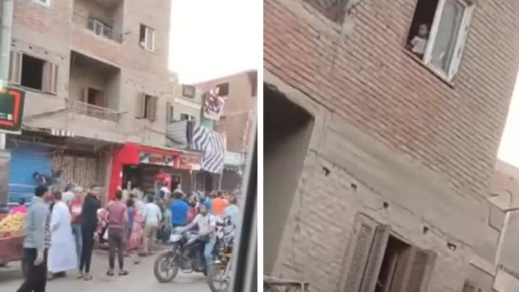 بالفيديو/ قُبيل موعد الإفطار، مصري يلقي أموالًا طائلة على المواطنين من شباك منزله!