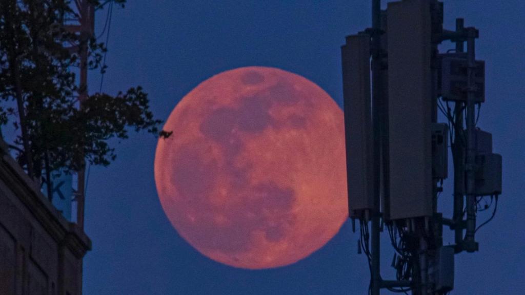 بالصور/ القمر الوردي في مشهد لافت من بيروت مساء اليوم.. حيث انه يصادف في اقرب نقطة من الارض وتحدث هذه الظاهرة في شهر نيسان من كل سنة