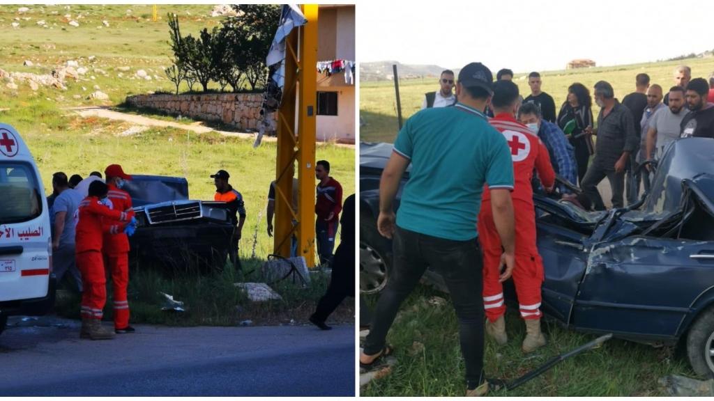 بالفيديو/ حادث سير مروع على طريق ضهر الأحمر في قضاء راشيا...ومعلومات عن سقوط ضحايا