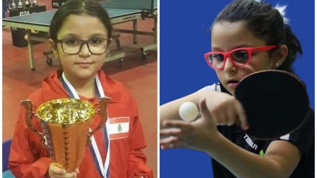 الطفلة اللبنانية بيسان شيري تحتل المركز السابع في لائحة التصنيف العالمي الذي يصدره الاتحاد الدولي لكرة الطاولة أسبوعياً لفئة تحت الـ11 سنة