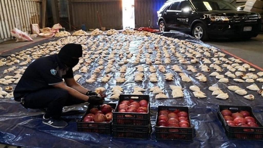 الشحنة ضمت 60 الف رمانة ومن بينها 1000 رمانة تم حشوها بالمخدرات وهي من الحجم الكبير الذي تتميز به الزراعات السورية من هذا الصنف (الجمهورية)