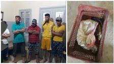 بالصور/ ضبط عدد من الاشخاص يقومون بجمع الاسماك النافقة في بحيرة القرعون لبيعها!