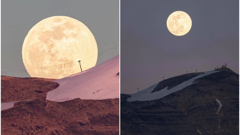 صور ساحرة للقمر العملاق يوم الاثنين من خلف جبل صنّين... العالم على موعد آخر لهذه الظاهرة في 26 أيار!