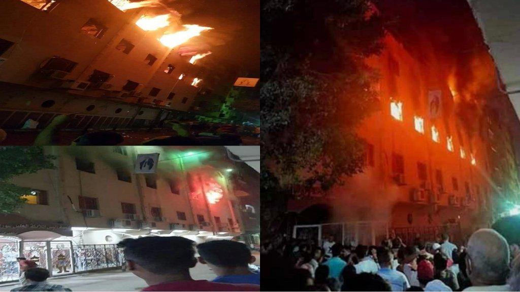 بعد صلوات الجمعة العظيمة...حريق هائل في كنيسة مار مينا بمصر!