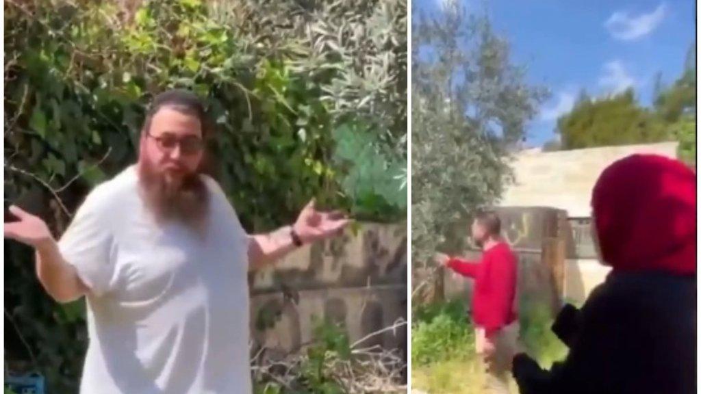 """بالفيديو/ صاحبة إحدى البيوت في حي الشيخ جراح بالقدس تطالب أحد المحتلين بإخلاء المنزل..رده عليها أثار الغضب: """"إذا لم اسرقه أنا سيسرقه غيري"""""""