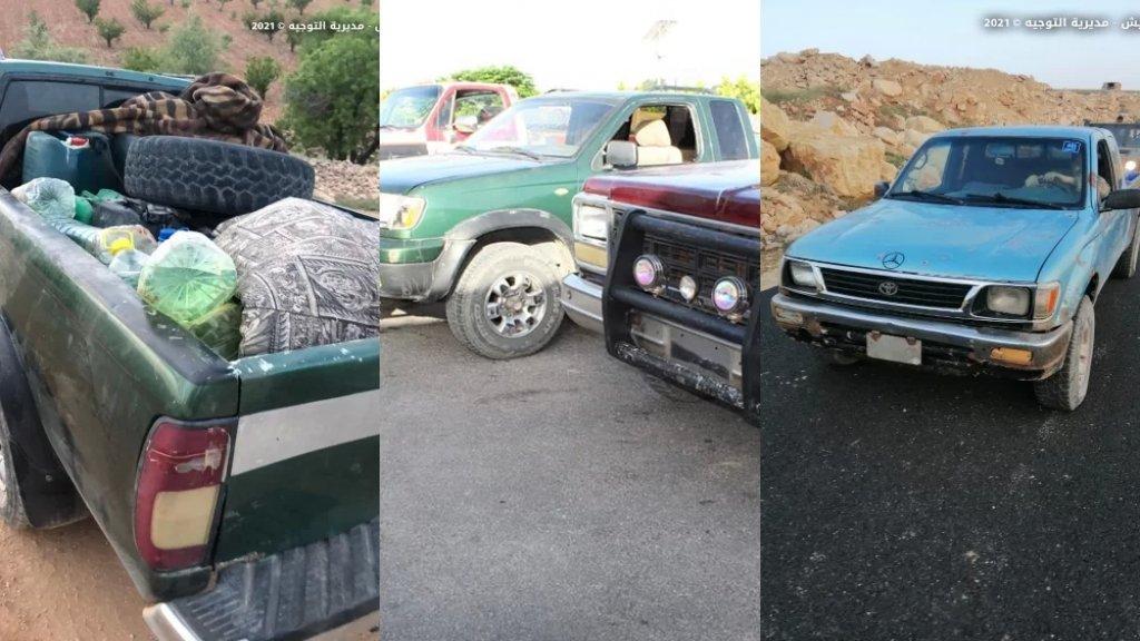 بالصور/ الجيش يضبط كمية من المحروقات وصناديق فحم مخصصة للنراجيل معدّة للتهريب إلى سوريا