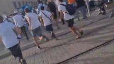 لحظة هروب المستوطنين في مسيرة الاعلام في القدس المحتلة بعد انطلاق صفارات الانذار