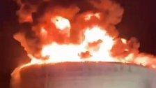 بالفيديو/  إصابة خط أنابيب النفط الرابط بين إيلات وعسقلان