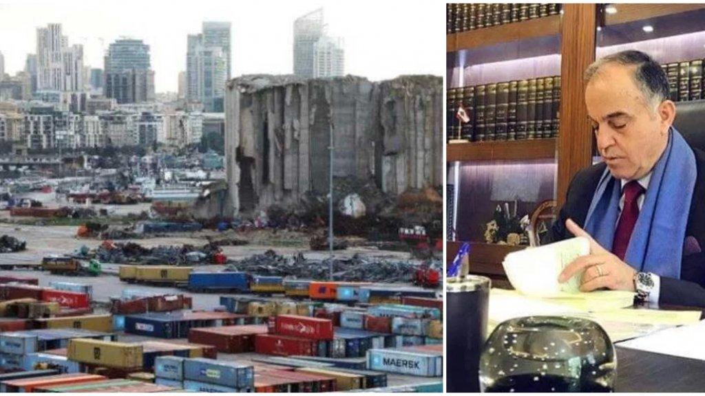 القاضي علي ابراهيم أصدر قراراً ألزم أصحاب المستوعبات الـ49 في المرفأ  والتي كانت تحتوي مواد خطرة بسداد كامل المبلغ المدفوع للشركة الالمانية من قبل الدولة اللبنانية