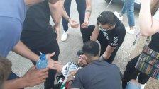 بالصور/ جيش الإحتلال يلقي قنابل دخانية على المتظاهرين في كفركلا وعدة حالات اختناق بينهم