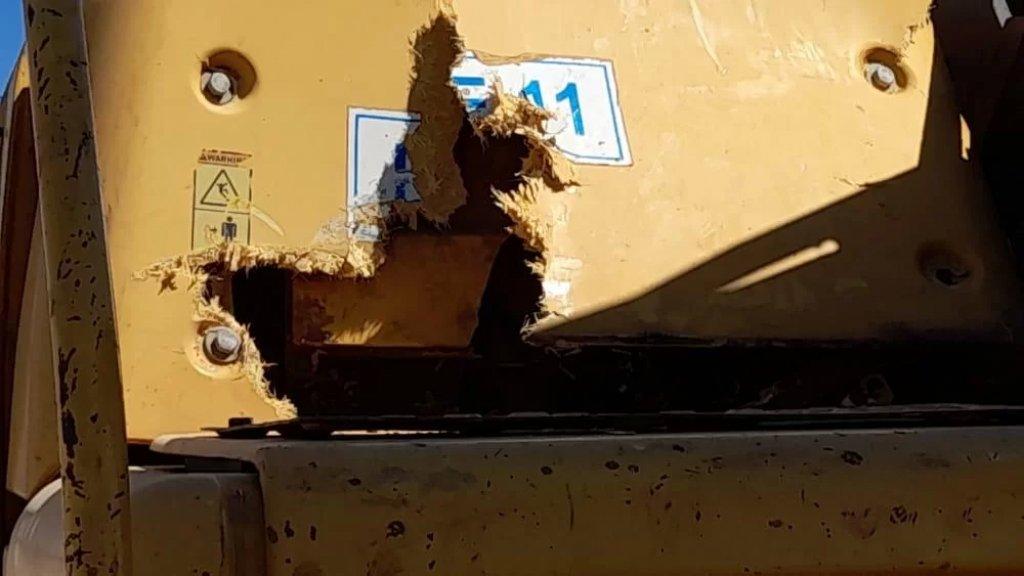 """تضرر مشروع الصرف الصحي في منطقة الخيام في مرجعيون بعد سقوط قذائف """"اسرائيلية"""" عليه"""