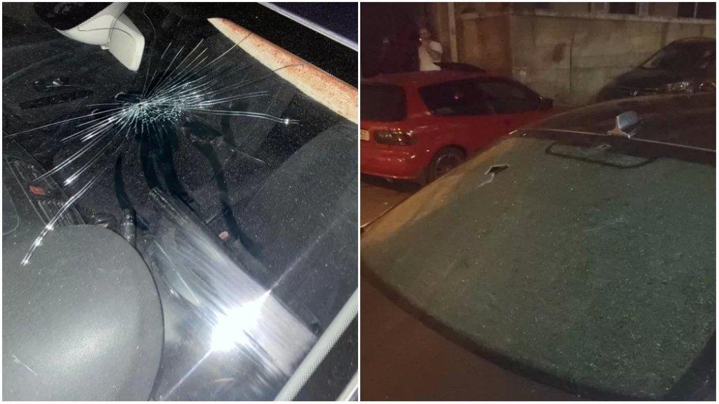 بالصور/ سقوط جرحى وإصابة عدد من السيارات في صيدا وضواحيها نتيجة إطلاق الرصاص ابتهاجًا في مخيم عين الحلوة
