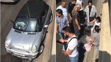 فيديو متداول:  موكب سياسي يطلق النار باتجاه سيارة سيدة في منطقة كورنيش المزرعة وحالة من الهلع!