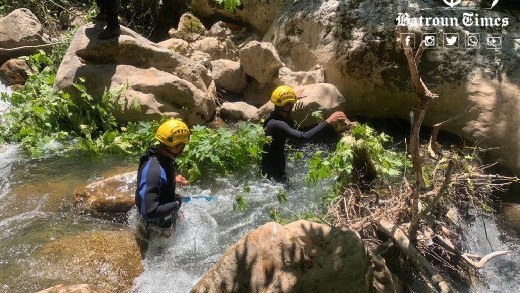 بالصور/ العثور على جثة الشاب هادي حكيم الذي كان قد فقد منذ حوالي الشهر في مجرى نهر الجوز في بيت شلالا