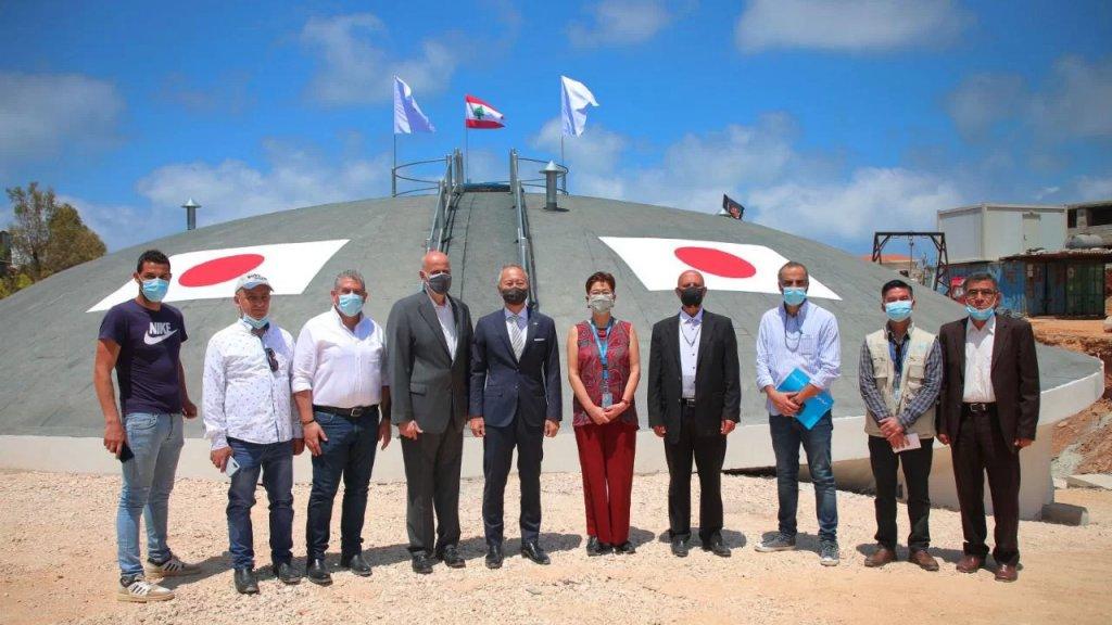 جولة للسفير الياباني وممثلة اليونيسيف على مشروع الخزان الذي أنشأه اتحاد بلديات الضاحية الجنوبية بالتعاون مع دولة اليابان واليونيسيف