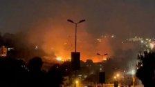 بالفيديو/ حريق كبير في منطقة صف الهوا في بنت جبيل
