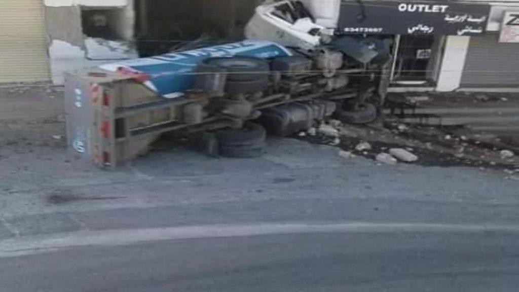 قتيلان بحادث انقلاب مأساوي لصهريج محمل بالغاز في بلدة مكسة في البقاع الأوسط
