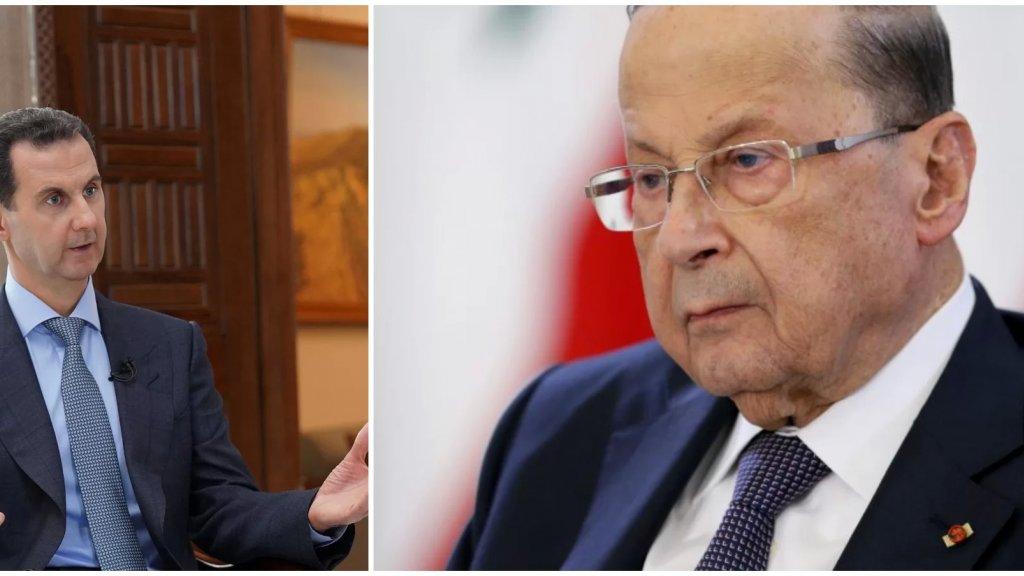 الرئيس عون هنأ الأسد بإعادة انتخابه: أتطلّع الى تطوير علاقاتنا الثنائية في كافة المجالات التي تخدم مصالح شعبينا العليا