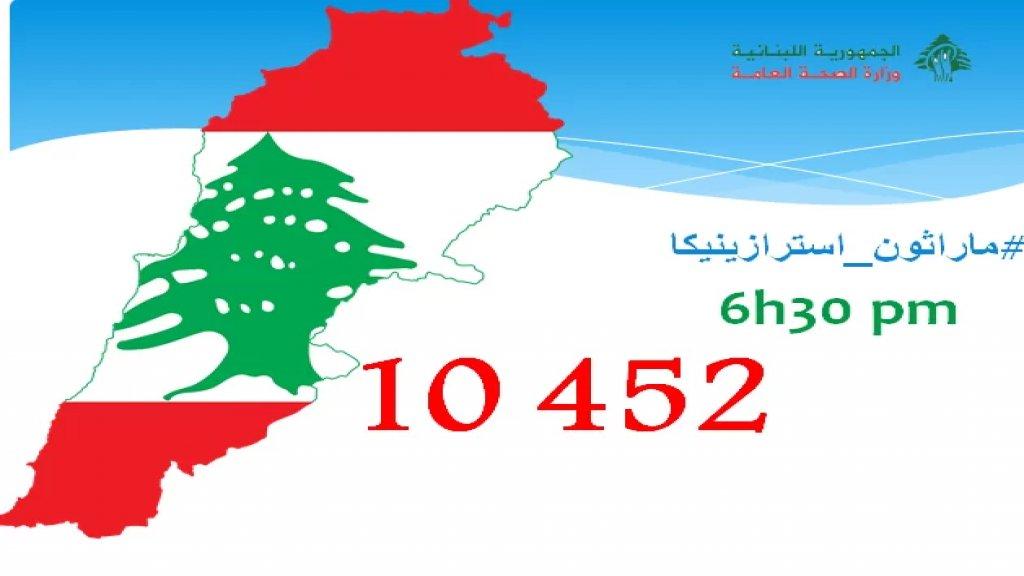 """على مساحة لبنان.. 10452 شخصًا تلقوا اللقاح ضمن """"ماراثون أسترازينيكا"""" حتى الساعة السادسة والنصف"""
