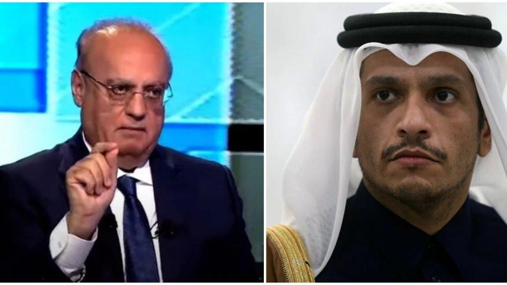 """وهاب عن """"وزير الخارجية القطري"""":  وقح وتافه وسخيف"""