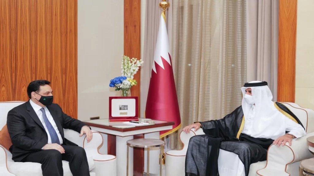 أمير قطر في رسالة إلى دياب: نؤكد دعم لبنان والشعب اللبناني الشقيق