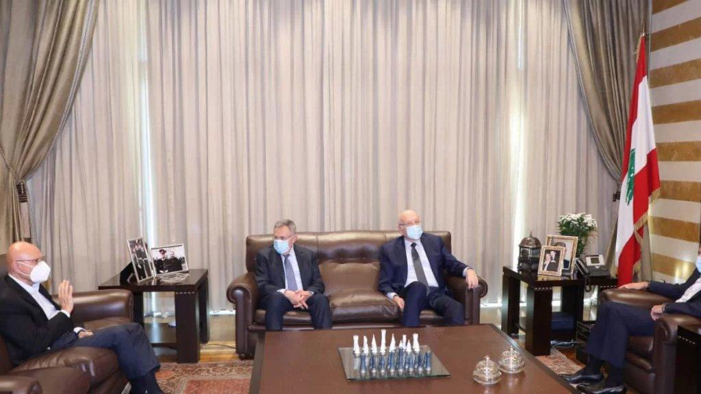 """لقاء في """"بيت الوسط"""" ضم الرئيس المكلف سعد الحريري ورؤساء الحكومة السابقين نجيب ميقاتي، فؤاد السنيورة وتمام سلام"""
