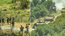 قوة عسكرية إسرائيلية مدعومة بدبابات ميركافا عند بوابة مزارع شبعا بهدف إزالة رايات لبنانية وفلسطينية والجيش الإسرائيلي يستقدم فريقًا تلفزيونيًا للتغطية