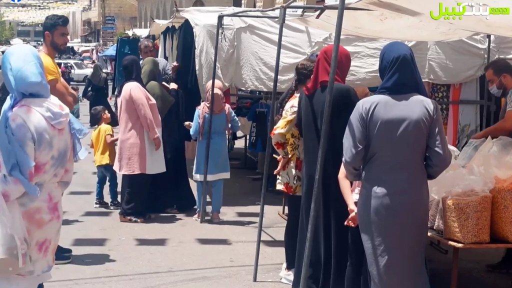 سوق الخميس في بنت جبيل.. تحسن طفيف بحركة المبيعات وعدد البسطات مقارنة بالأسبوع الماضي