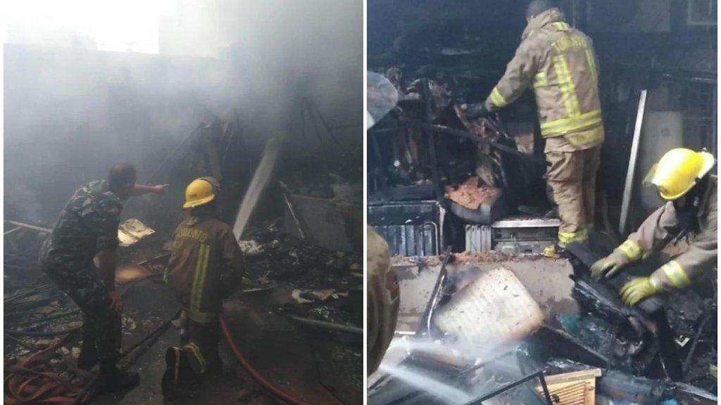 بالصور/ فوج اطفاء بيروت سيطر على حريق مبنى سكني في الجميزة بعد اخلائه من السكان
