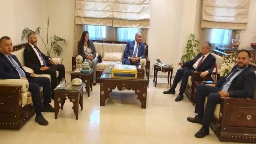 وفد من التيار الوطني يزور السفير السوري مهنئا بإعادة إنتخاب الأسد