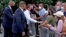 الحكم على من صفع الرئيس الفرنسي ايمانويل ماكرون بالحبس 4 أشهر