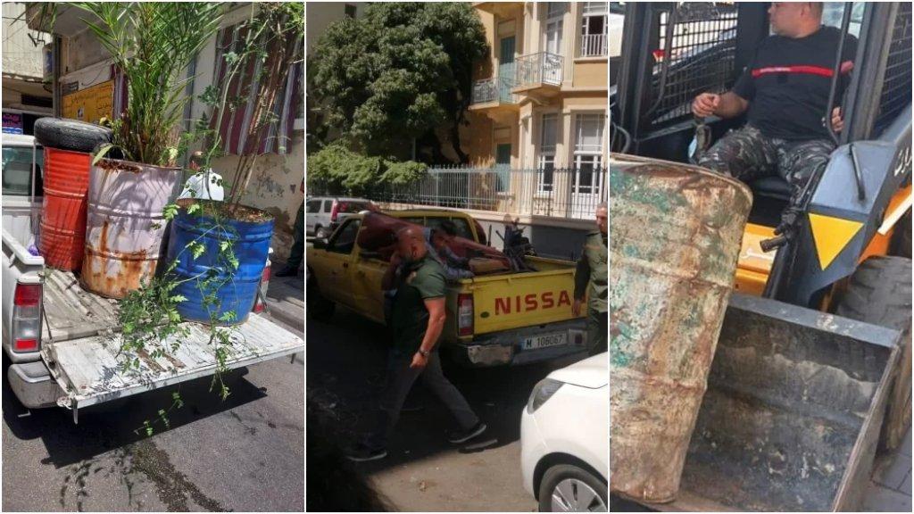 بالصور/ حملة لإزالة التعديات وقمع العربات المتجولة في شوارع بيروت