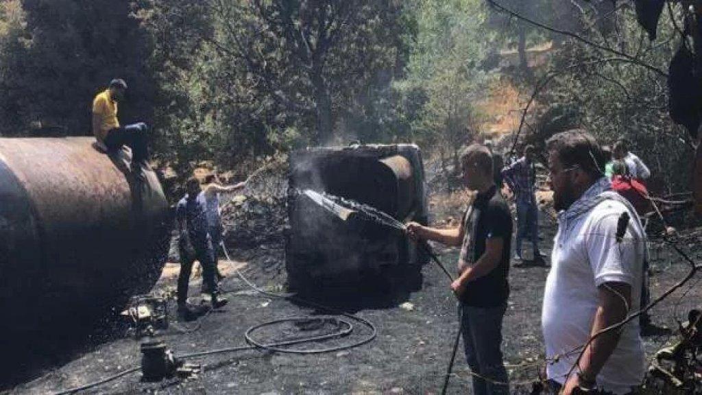 بالصورة/ انفجار خزان وقود في أحد بساتين الهرمل.. وصلت أصداؤه إلى عكار