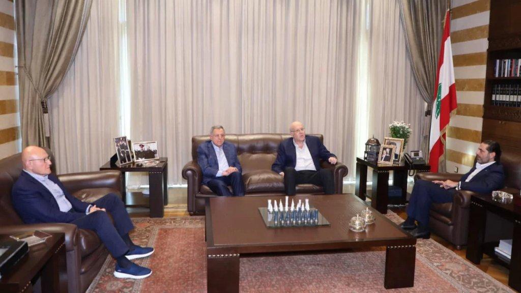 """الحريري التقى رؤساء الحكومة السابقين في """"بيت الوسط"""""""