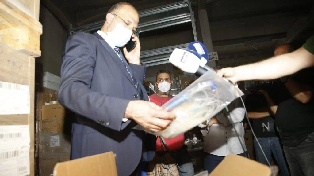 وزير الصحة واصل عمليات الدهم والتقصي: البضاعة المخزنة تكفي 3 أشهر وأكثر من ذلك... وهناك كمية وافرة من المعدات