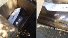 بالصور/ العثور على قذائف غير منفجرة  في مستوعب للنفايات في ساقية الجنزير!