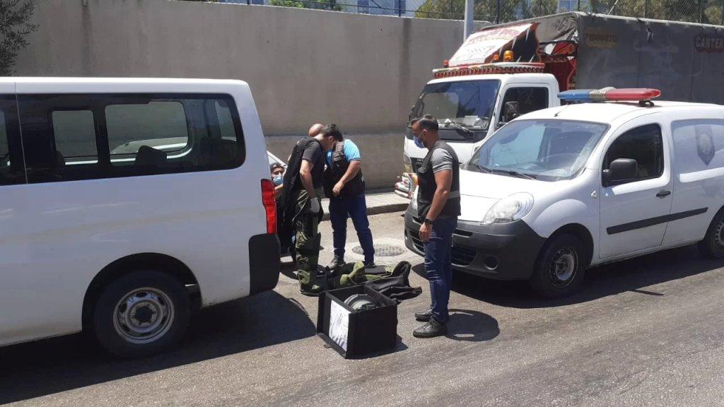 بالصور/ جريدة الأخبار: الاشتباه بوجود عبوة قرب مبنى دار الطائفة الدرزية في فردان