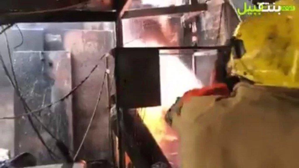 بالفيديو/ بجهودٍ جبّارة.. الدفاع المدني سيطر على الحريق الذي شب في اوتيل لافيدا سويت