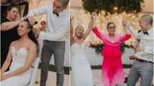بالفيديو/ في مشهد مؤثر.. زوجان يحلقان شعريهما خلال حفل زفافهما تضامنًا مع والدة العروس التي تعاني من السرطان!