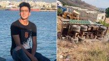 مقتل الشاب أحمد سليمان ابن وادي خالد، اثر انقلاب شاحنته على طريق زبدين شمالًا